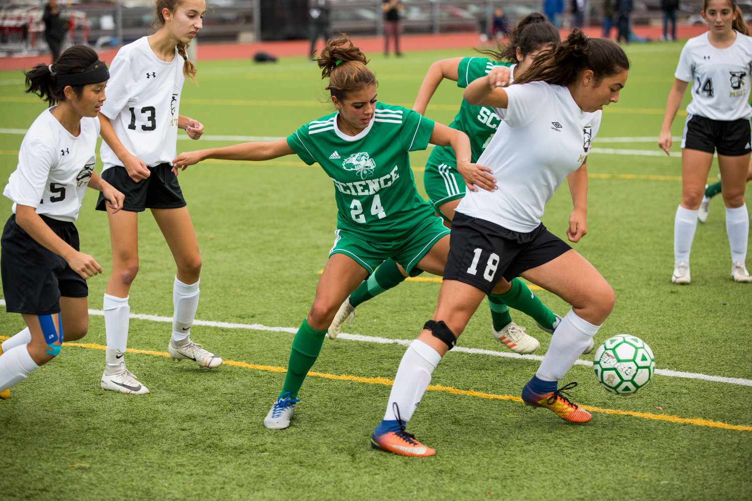 Bronx Science senior Ruby Hogue led the Wolverines with four shots on goal in Science's 2-0 loss to Francis Lewis in the PSAL quarterfinals.