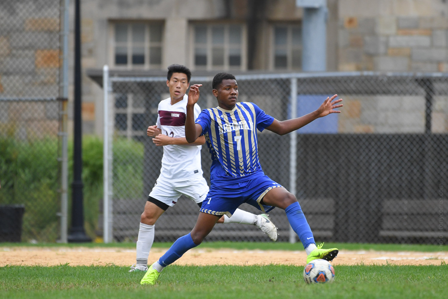 Mubarak Ouro's goal gave Lehman an early lead over John Jay in the CUNYAC semifinals last week. But the Bloodhounds rallied to win and move on to the championship game.
