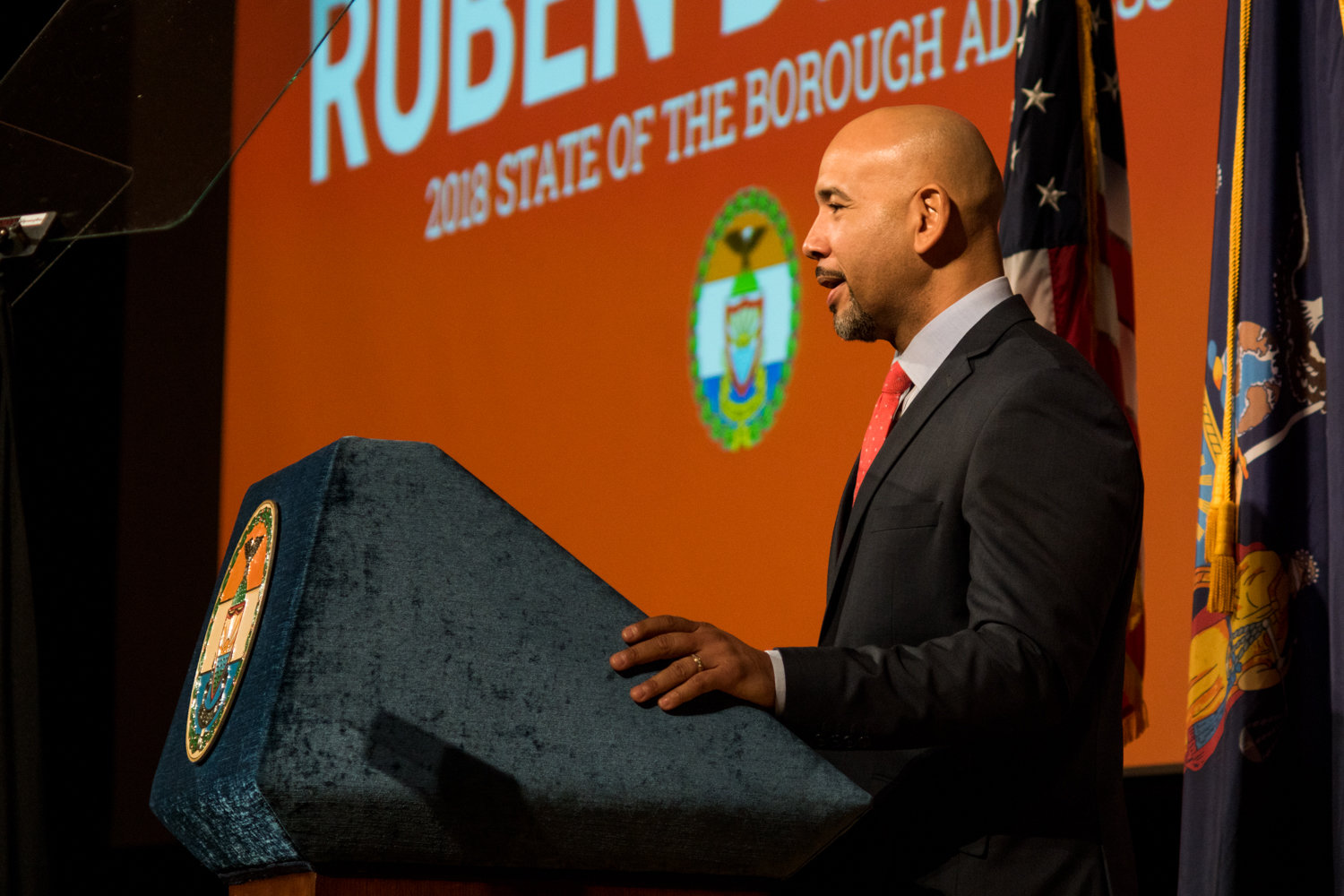 Bronx borough president Ruben Diaz Jr., seen here at a state of the borough address in 2017, wants New York to legalize marijuana, but in a way that's most fair to the people marijuana laws of the past have negatively affected the most.