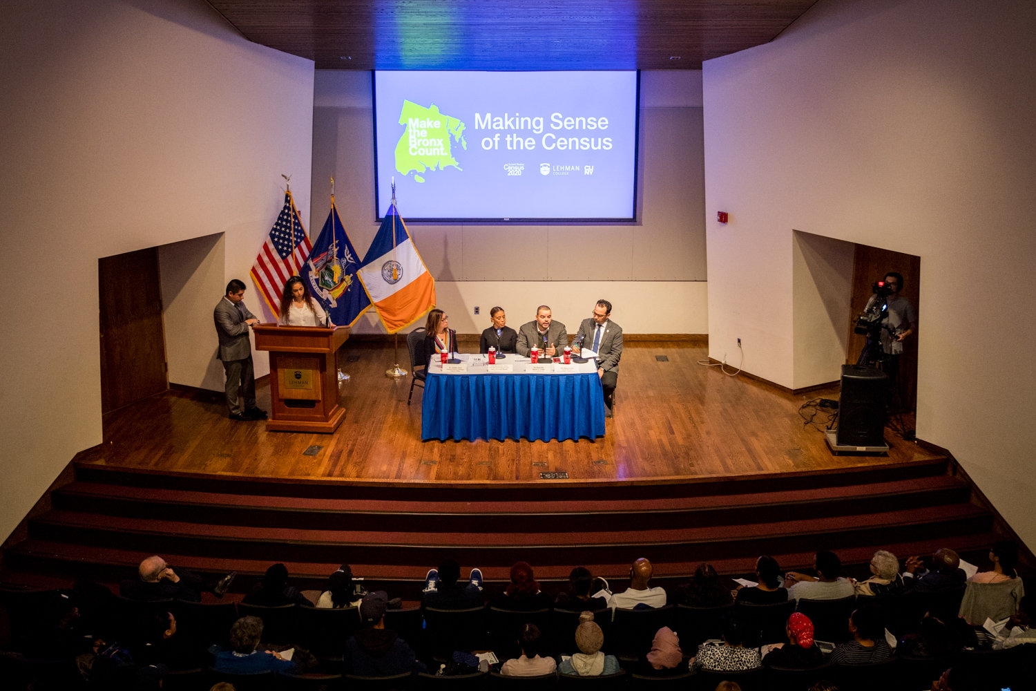 Lehman College hosted a panel discussion featuring a mix of academics, local and federal officials talking about the upcoming census, and how crucial it is to get an accurate count. Federal funding hinges on the number of people tallied in the census.