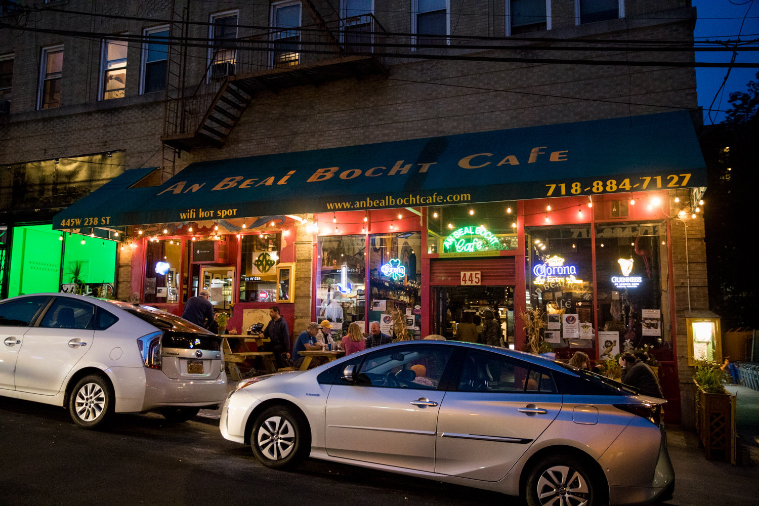 If West 238th Street is known for anything, it is An Beal Bocht Café, a pub with Irish roots catering to the neighborhood with a variety of shows like concerts and open mics.