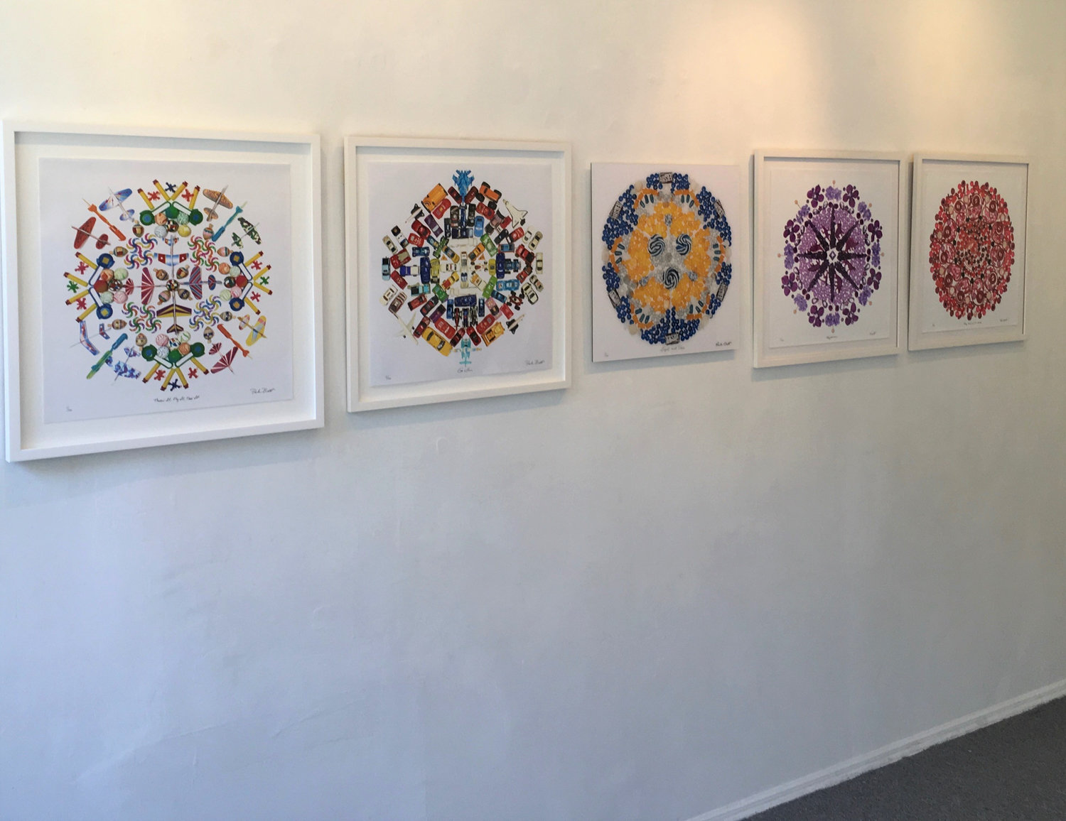 The group exhibition 'Picture This' at Elisa Contemporary Art brings together works by various artists, including Paula Brett's mandalas.