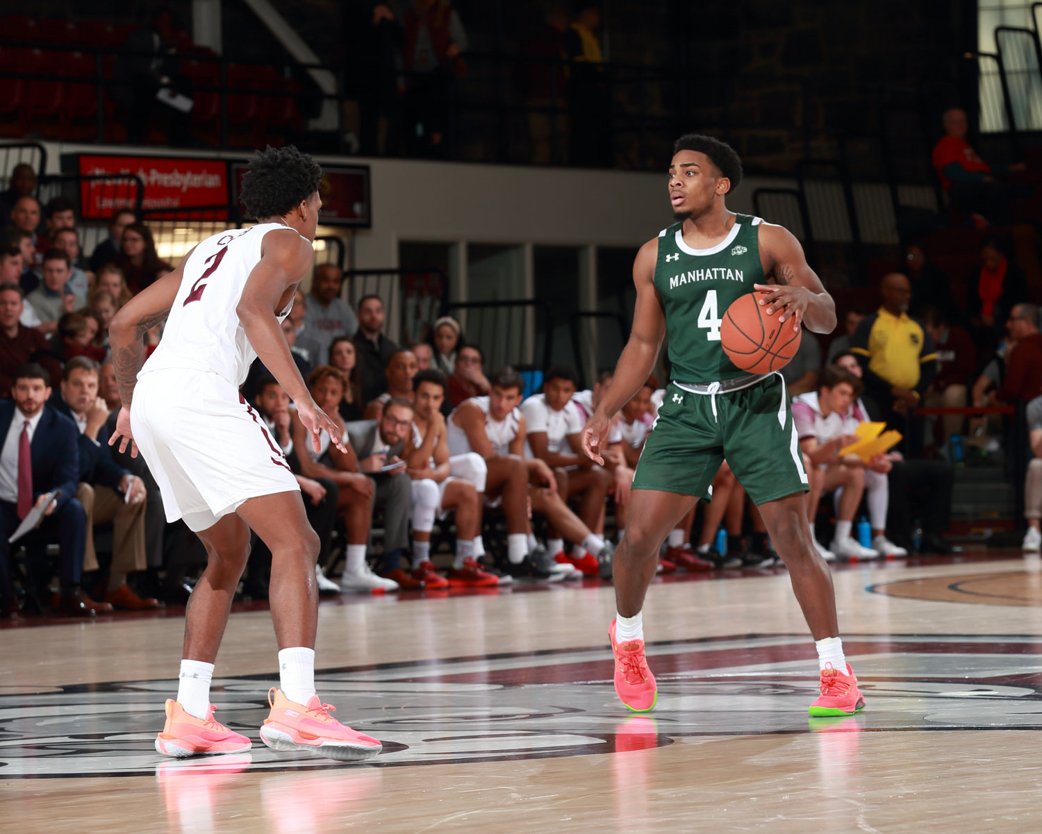 Manhattan College sophomore Samir Stewart is leading the Jaspers in scoring this season through the first eight games.