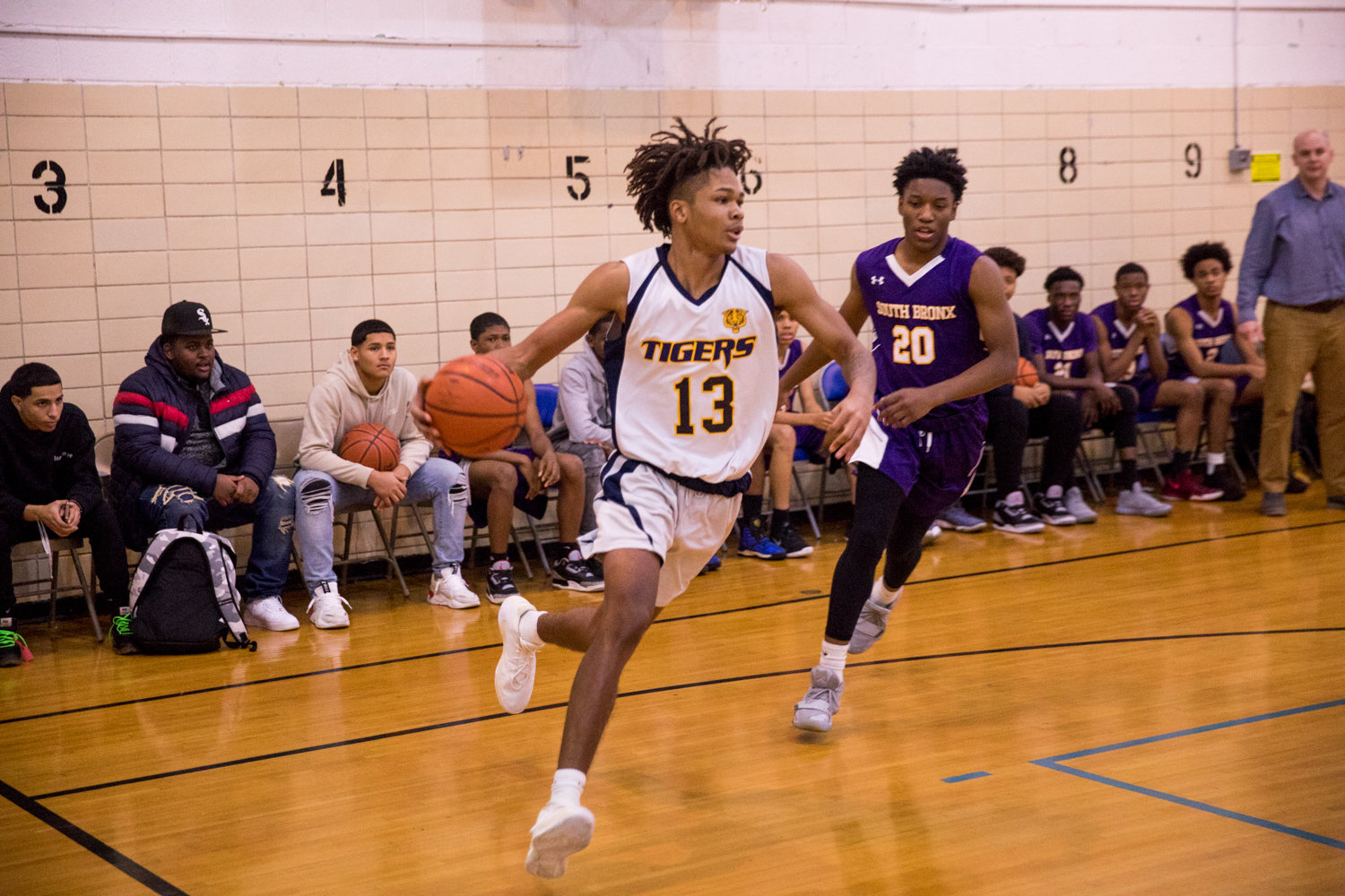 Riverdale/Kingsbridge Academy senior Kai Parris has logged seven double-doubles in nine games this season for the Tigers, with his best outing coming in a 49-point, 21-rebound explosion against Tuitt.