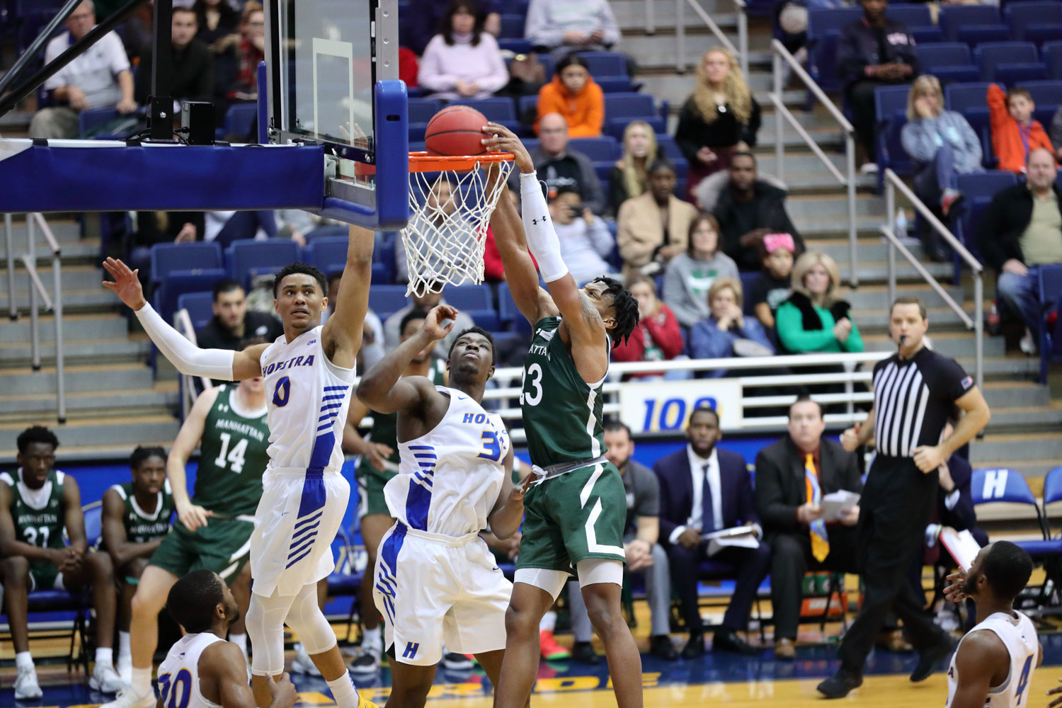 Warren Williams' game-high 16-points helped key Manhattan's victory over Canisius last Friday night.