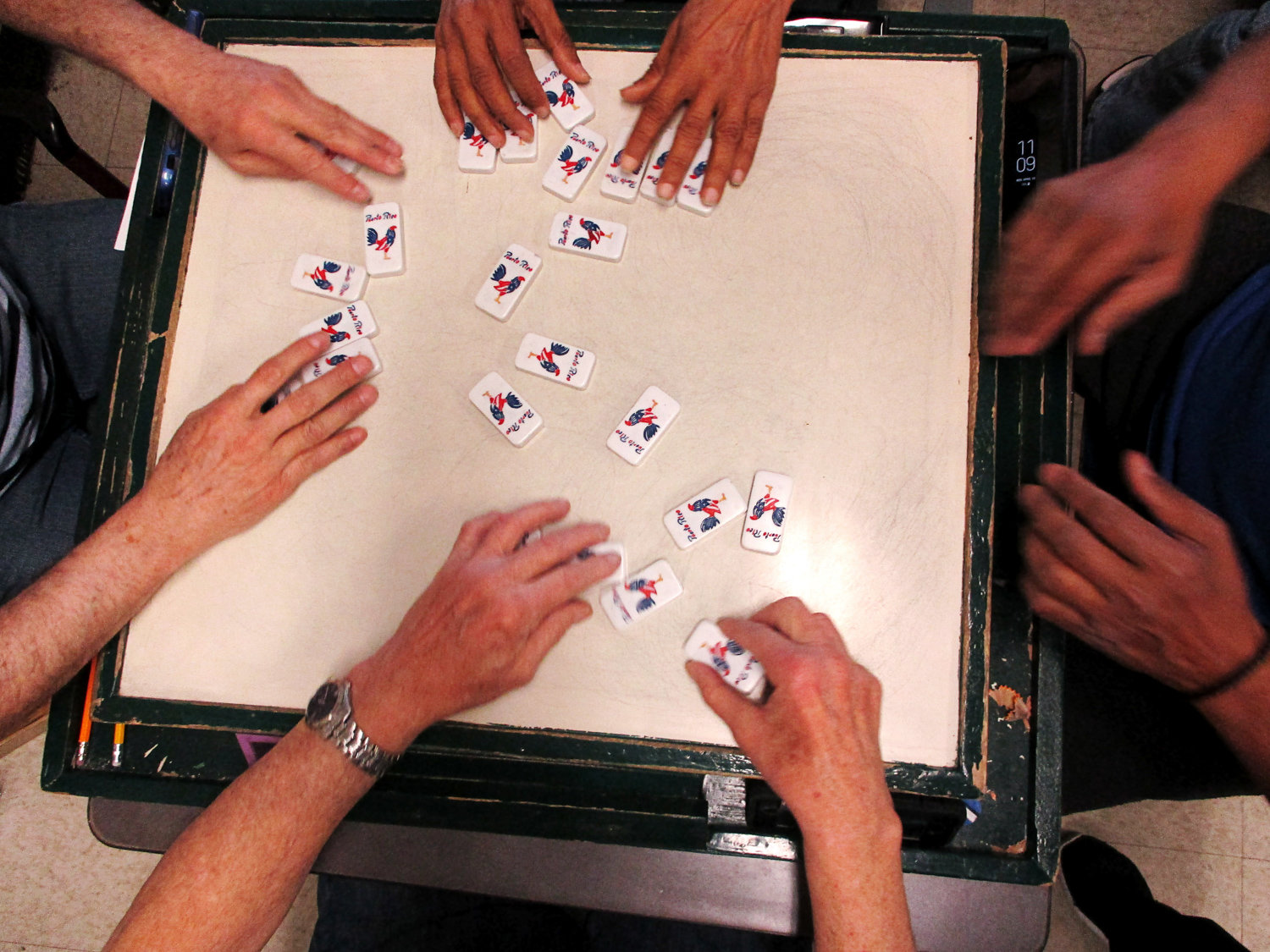 Bronx Senior Photo League member Vivian Hernandez's photograph of a domino game is included in her group's exhibition at the Bronx Documentary Center, on display through Feb. 2.