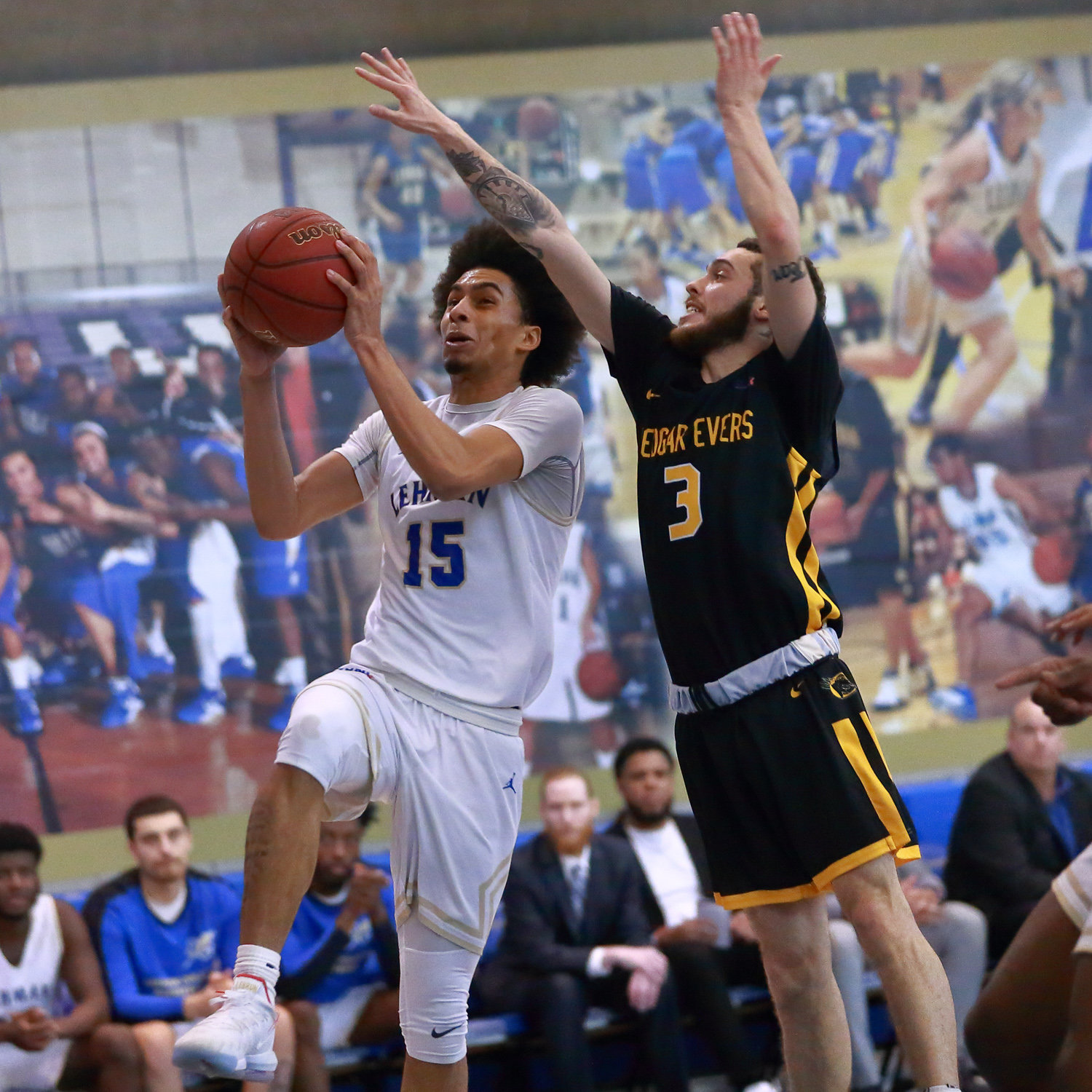 Some hot shooting down the stretch by Gian Batista helped fuel a late Lehman rally and lead the Lightning to a win over Medgar Evers.