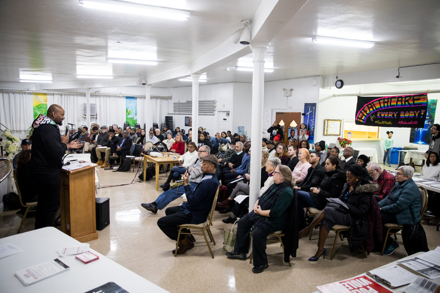 A panel discussion on mental health and police activity in communities of color filled the space at St. Stephen's United Methodist Church on Martin Luther King Jr. Day.