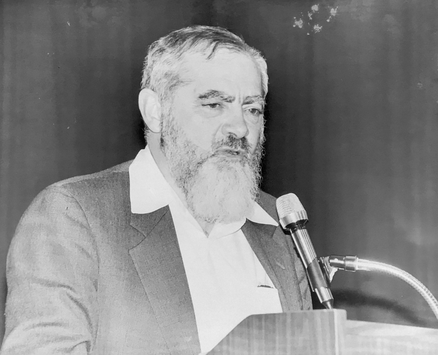 Rabbi Meir Kahane had sharp words for The Riverdale Press and two local rabbis in a speech he gave at The Riverdale Y on Feb. 25, 1990. He expressed what many described as extremist views in a 1984 debate about the future of Israel between him and then-Harvard Law School professor Alan Dershowitz.