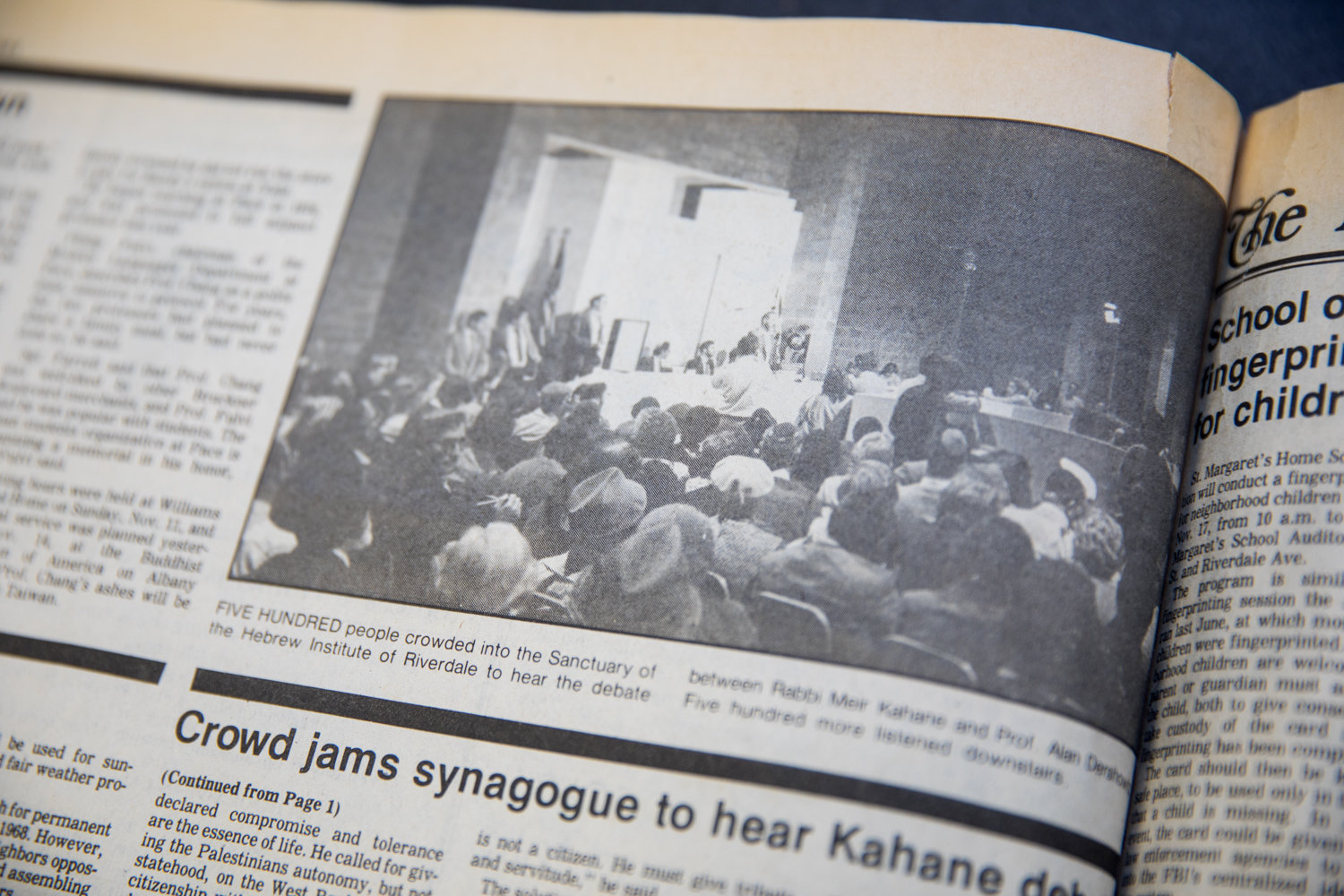 Few things can pack a space quite like the contentious 1984 debate between firebrand Rabbi Meir Kahane and then-Harvard Law School professor Alan Dershowitz did at the Hebrew Institute of Riverdale, which drew more than 800 people.