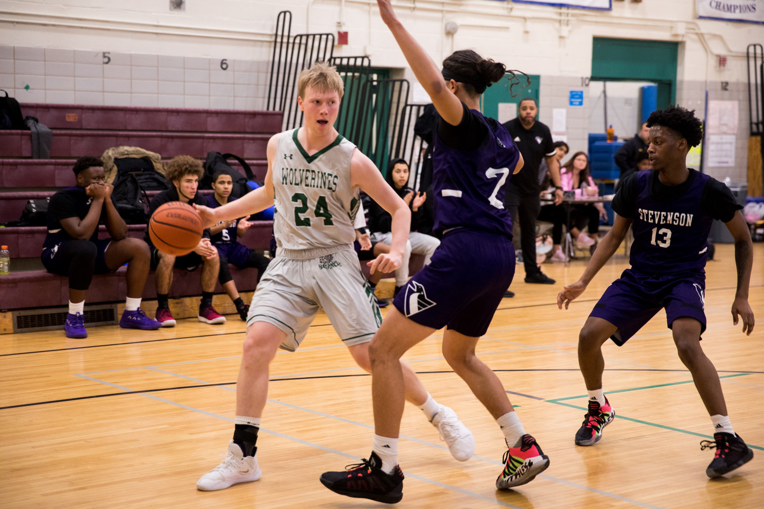Bronx Science senior Kyle Catry turned in a team-high14-point performance against Stevenson, but it wasn't enough to avoid a seven-point loss to the Ambassadors.