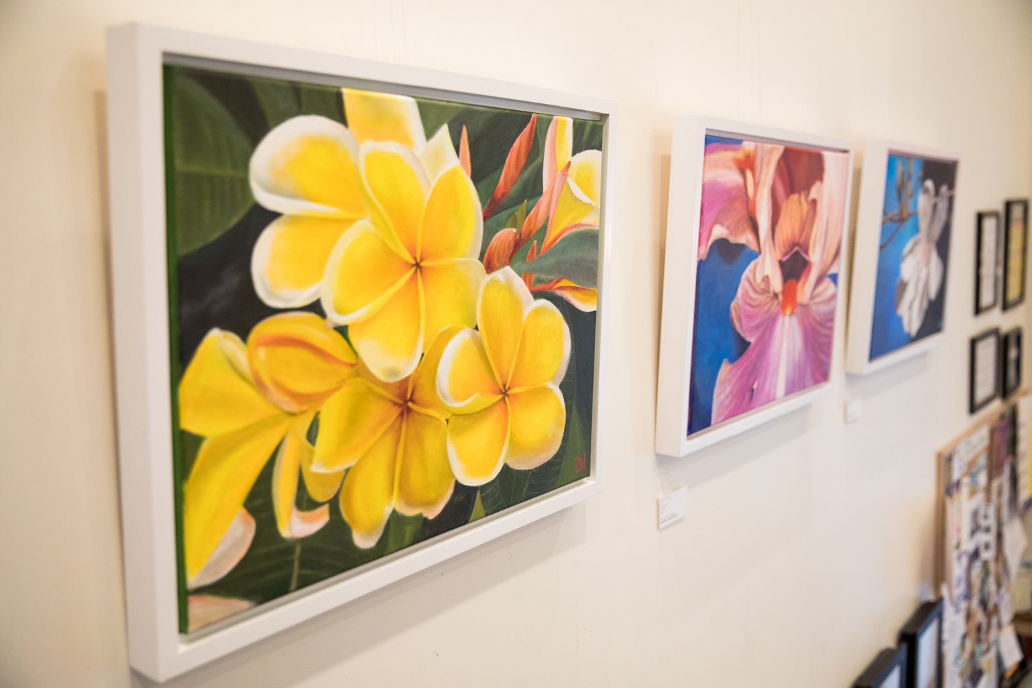 Daria Nawrocki's exhibition 'Flourish' brings a dose of floral vibrancy to the walls of Buunni Coffee, where it is on display through March 31.
