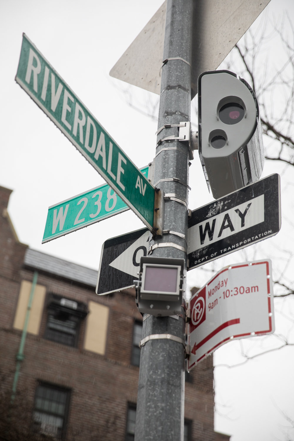 West 238th Street is staggered across Riverdale Avenue, but there's one section where drivers will have to be more careful than usual, because city officials have installed a new speed camera.