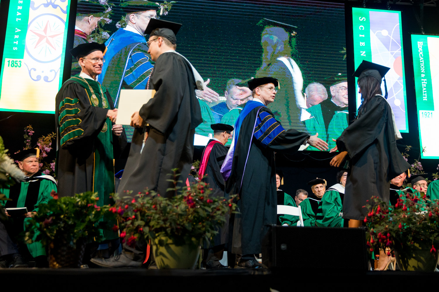 Graduating seniors in Manhattan College's Class of 2019 walk on stage to receive their degrees after hearing a stirring speech from commencement speaker U.S. Supreme Court Justice Sonia Sotomayor. The school has not yet confirmed a commencement speaker for the Class of 2020, and time is running out.