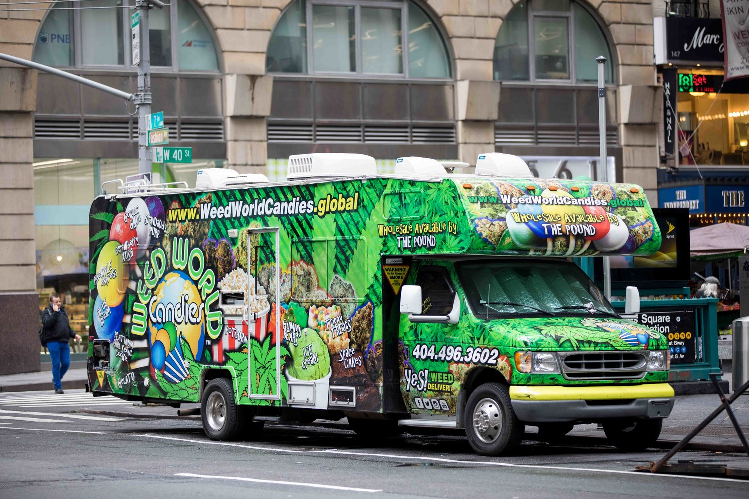 The trucks for Weed World Candies are a familiar sight in the city. While the organization doesn't sell marijuana, it does advocate for the legalization of the plant, which could soon happen in the state.