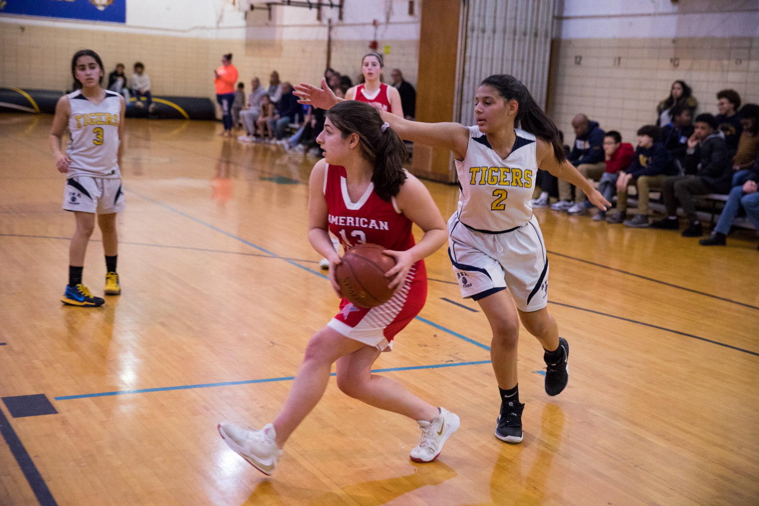 American Studies junior guard Alexis Guberman recorded eight points and eight rebounds in the Senators' playoff win over Career Health Academy on Monday.