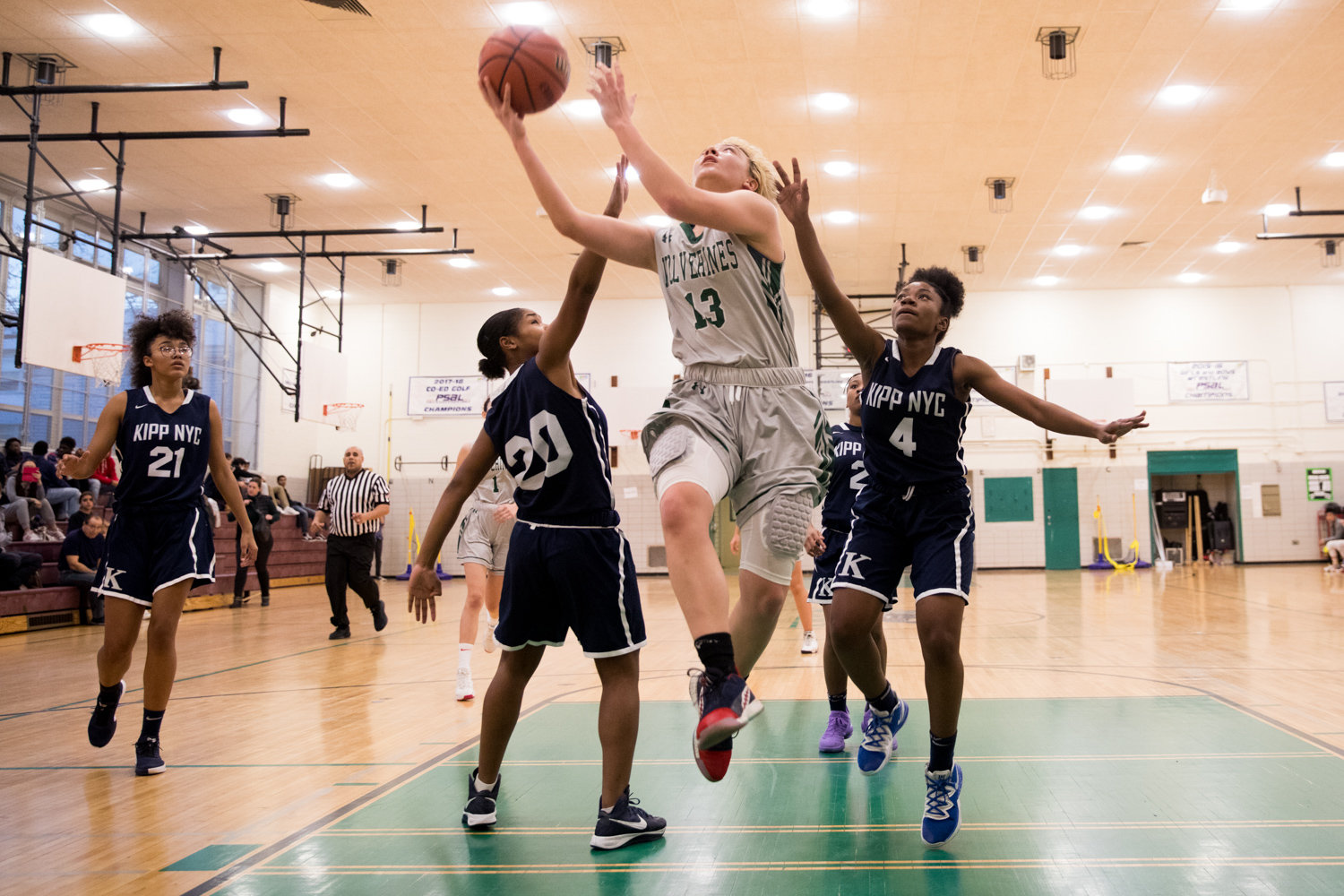 Bronx Science's Sarang West scored 20 of the Wolverines' 39 points in her team's victory over Evander.