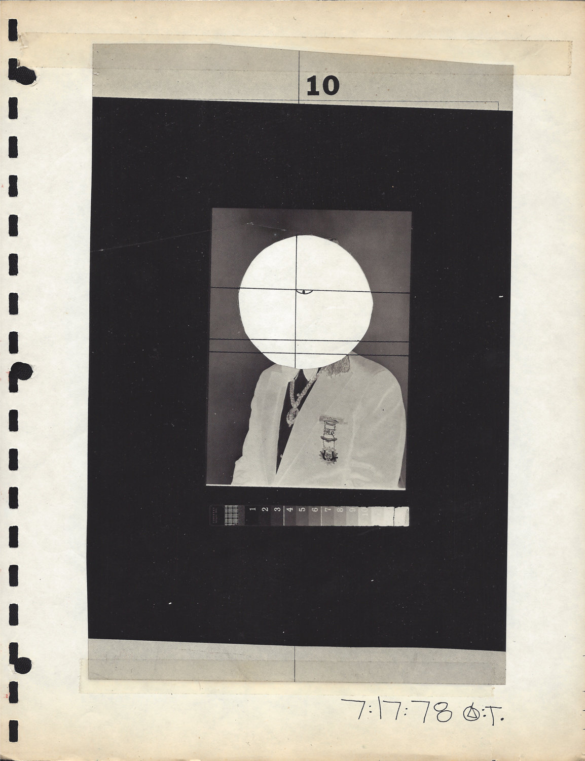 Tim Greathouse often made collages like this one, 'Anonymous Man in Suit,' from 1978.