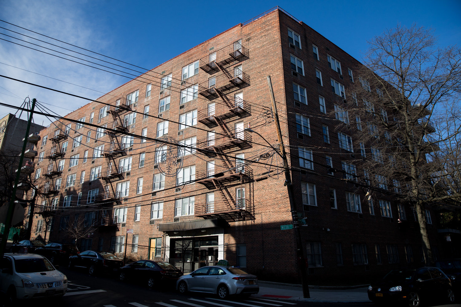 Manhattan College students have reported incidents of someone breaking into rooms and watching women sleep at a school-owned apartment building at 435 W. 238th St.