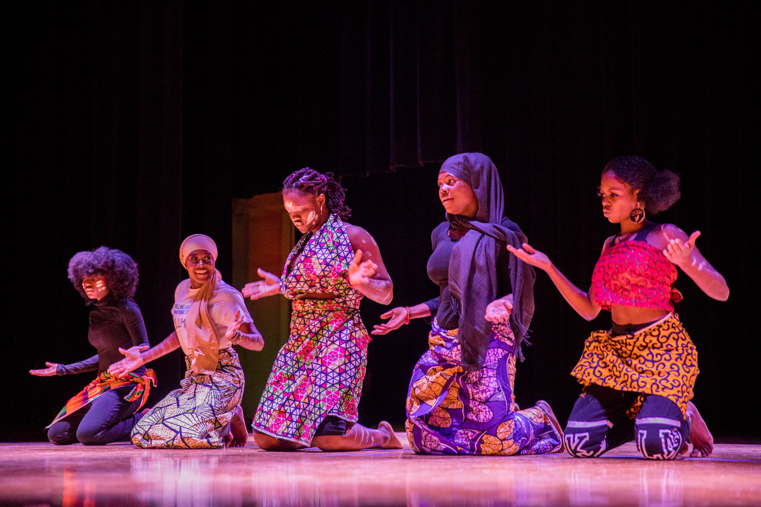 Students perform 'African Roots' for the Marble Hill School for International Studies' second annual Black History Show, organized by the school's new Black Student Union.