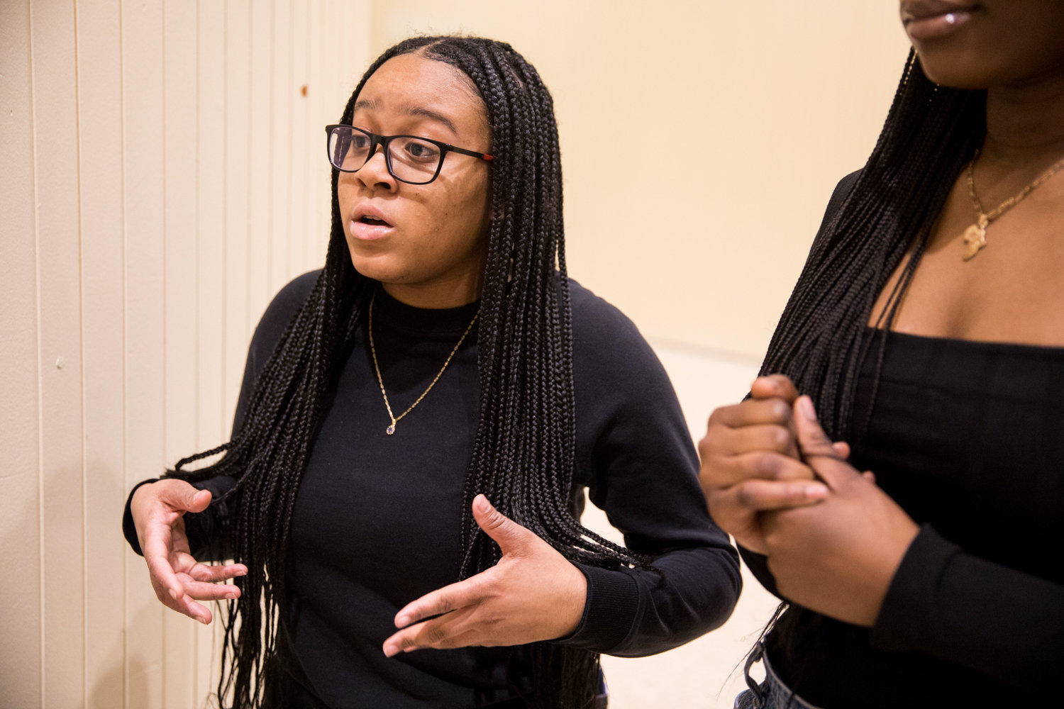 Tamara Wood, a senior at Marble Hill School for International Studies, was inspired by last year's Black History Show to help found the Black Student Union.