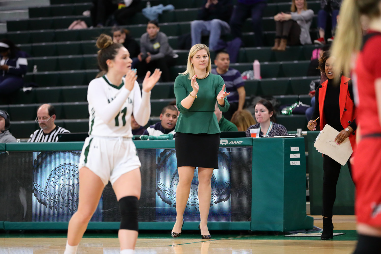 With a victory over Monmouth in Manhattan's regular-season finale, the Jaspers notched their 15th win of the season, the highest single-season win total in head coach Heather Vulin's four seasons at the helm.
