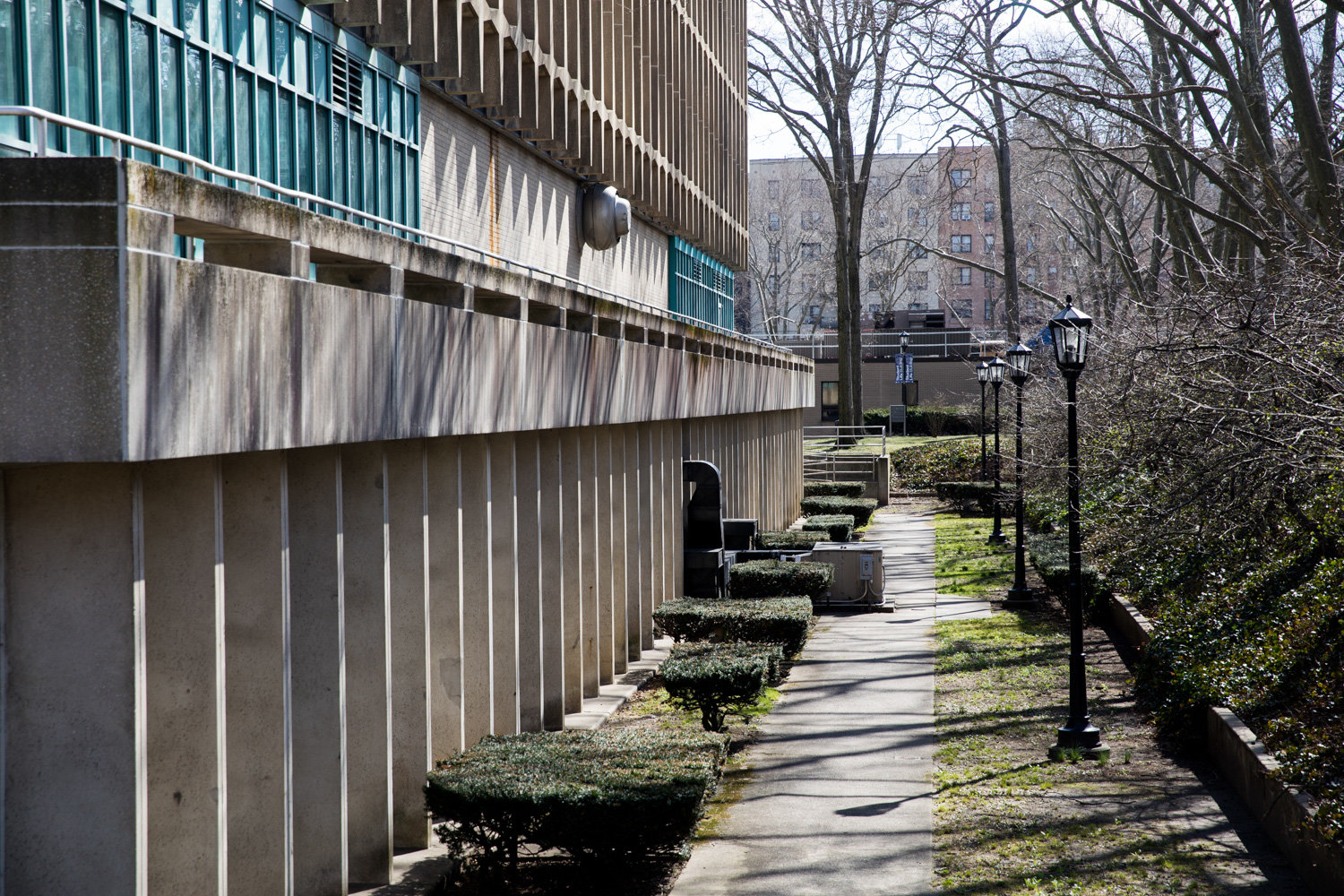 All's quiet on the Lehman College front after the campus was closed, like all CUNY campuses, March 11 in response to the coronavirus outbreak.