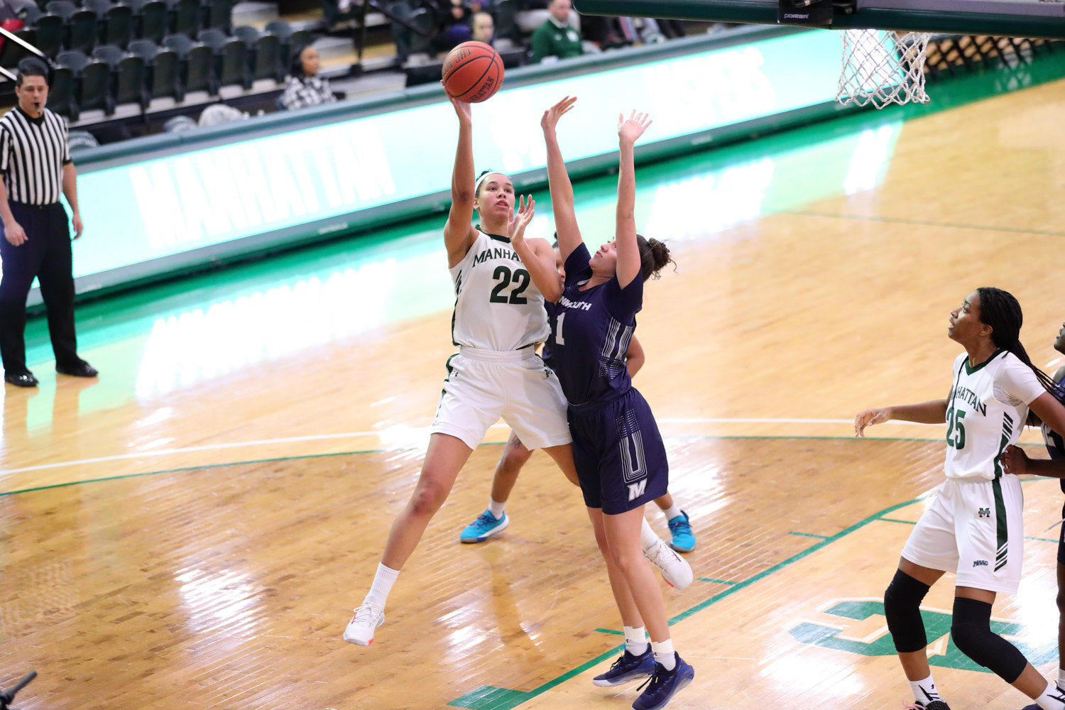 Manhattan junior Courtney Warley was second on the team in scoring (11.6 points a game) and tops in rebounding (8.8 boards per outing) for the Jaspers this season. But she was unable to add to her impressive stats last week when the MAAC tournament was shuttered due to the coronavirus pandemic.