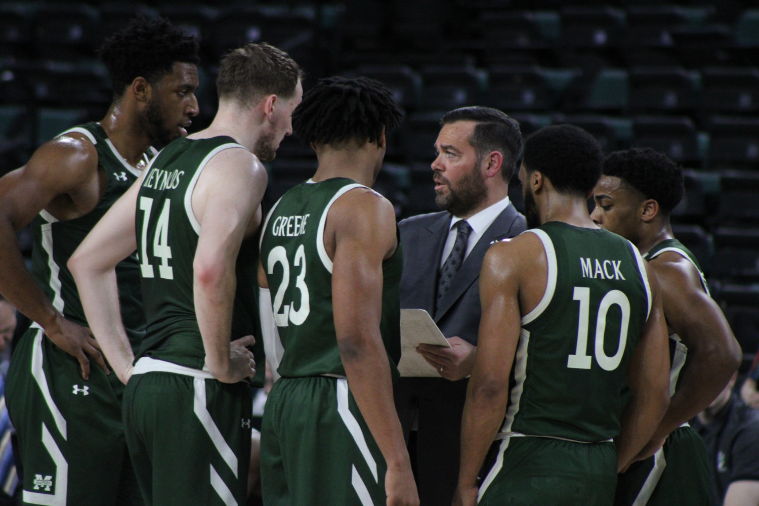 All of Manhattan head coach Steve Masiello's dealings with his players are through phone calls and texts as the coronavirus crisis has made normal dealings with his team impossible.