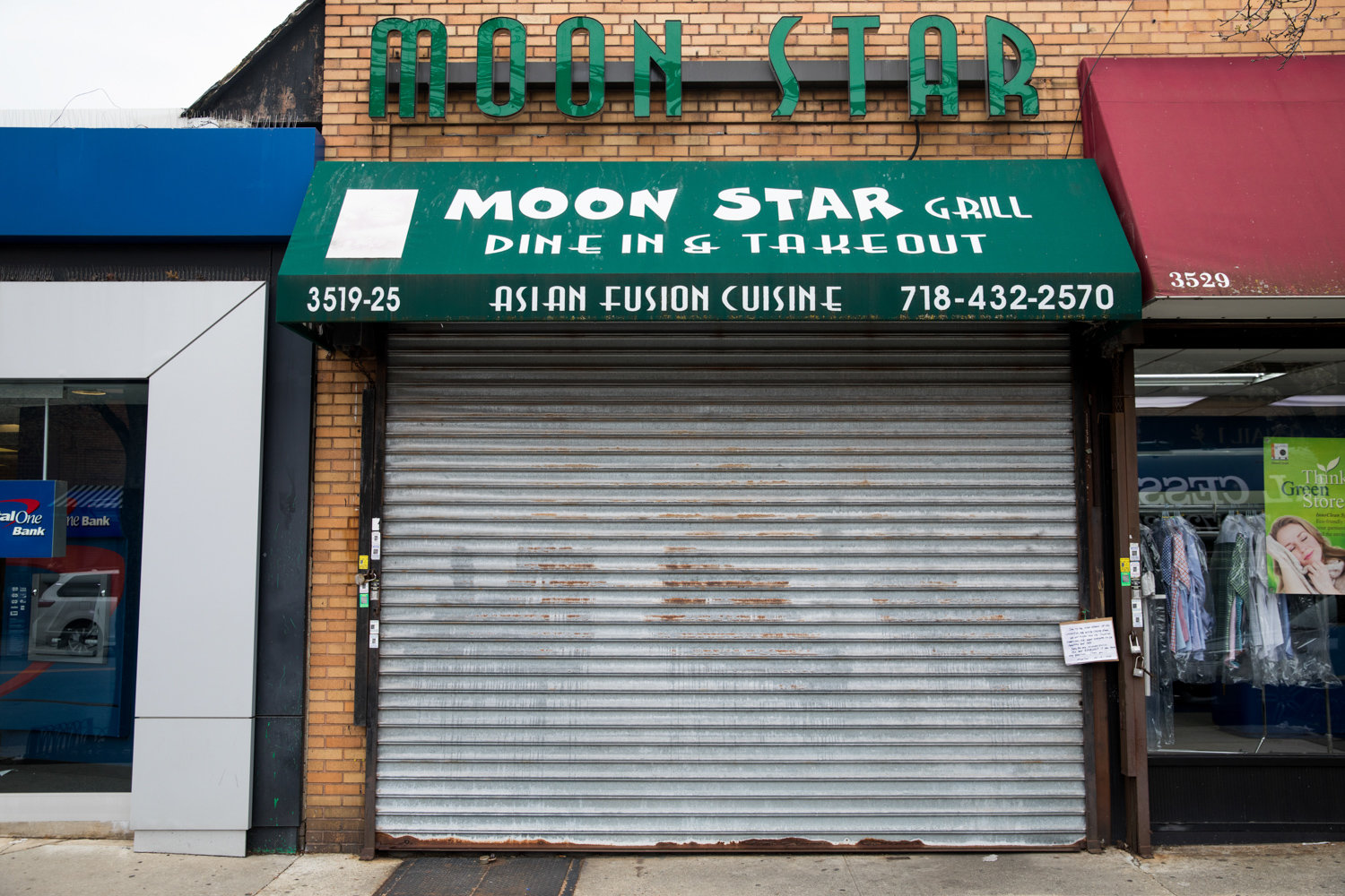 Moon Star is one of several Johnson Avenue eateries that closed as a result of the coronavirus pandemic. Several proposals to help small businesses have been put forward at the state and federal levels, but a concrete plan has yet to be finalized.