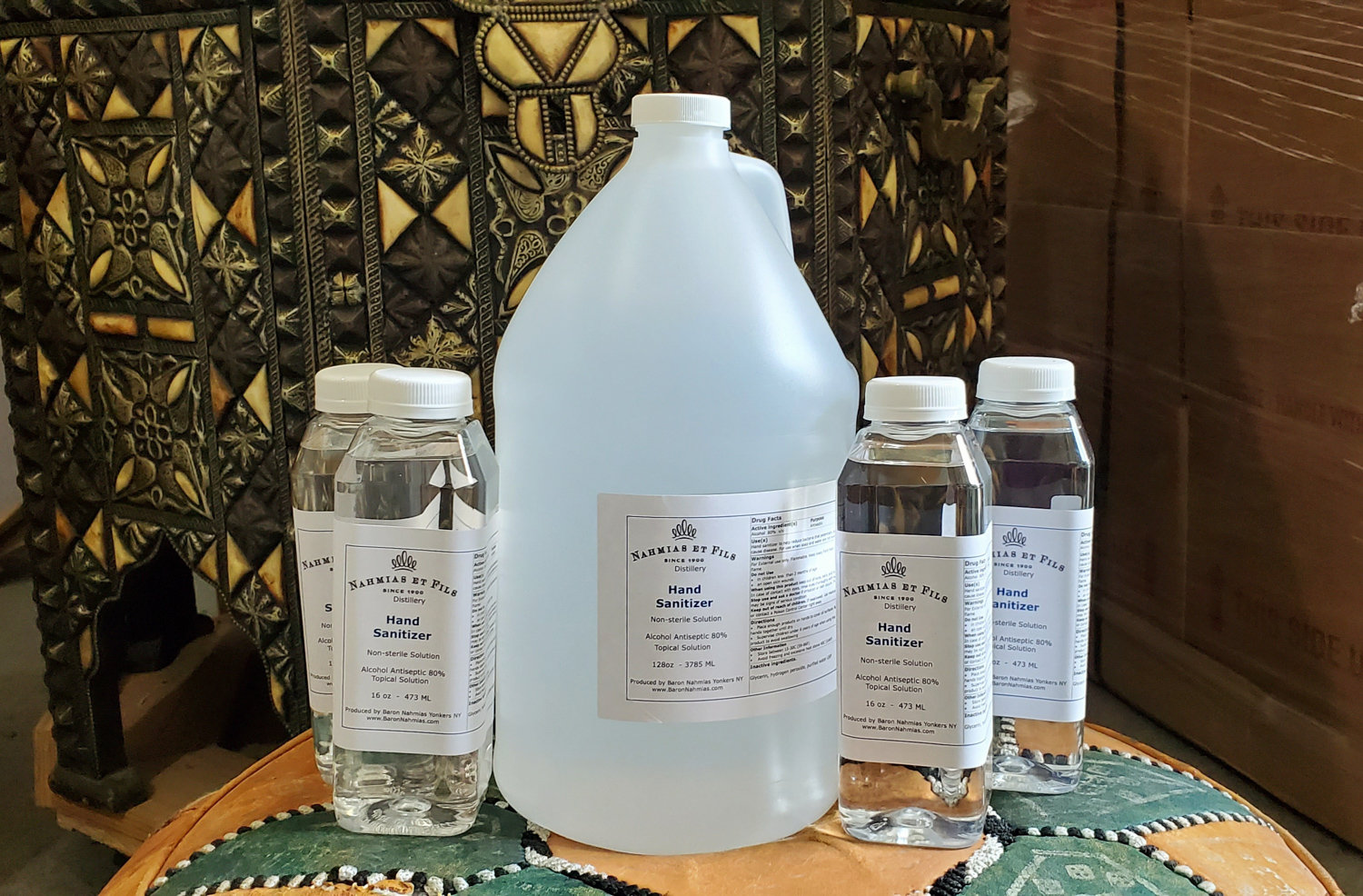 With hand sanitizer hard to come by on store shelves in the wake of the coronavirus pandemic, the Nahmias et Fils Distillery in Yonkers transitioned from producing liquor to hand sanitizer. North Riverdale's David and Dorit Nahmias own the distillery.