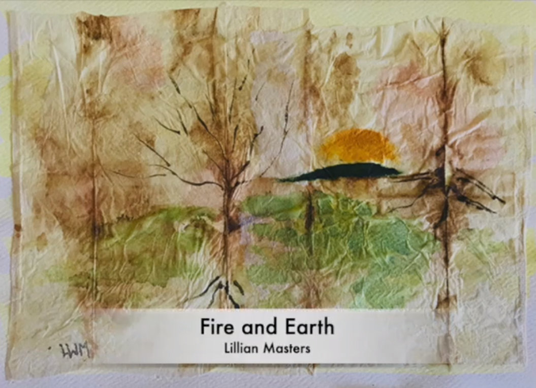 Lillian Masters' 'Fire and Earth' is one of many pieces in 'For the Love of Our Planet,' a new online video-exhibit by the Riverdale Art Association.