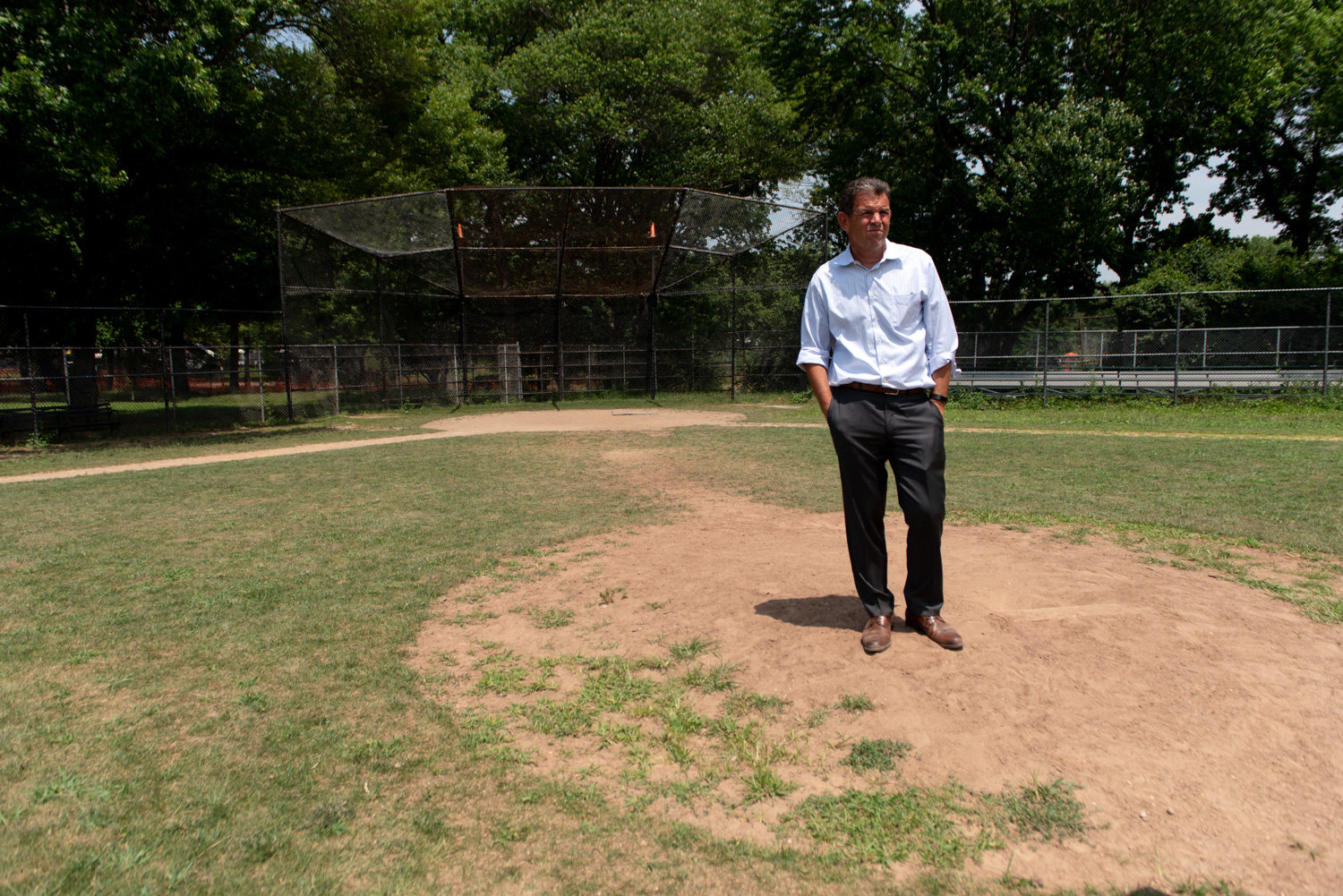 Rob Walsh, senior advisor to Manhattan College's president, has been pushing fo the city to renovate the ballfields in Van Cortlandt Park, and endorses the idea of naming it honor of Joseph Coppo, a 1975 graduate of the school who died on Sept. 11, 2001.