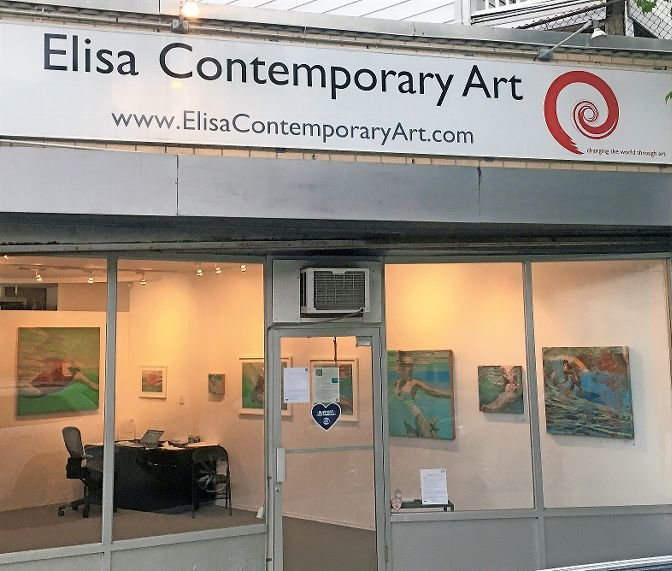 Elisa Contemporary Art, a gallery owned by Lisa Cooper on Mosholu Avenue, has reopened, under strict social distancing and mask wearing policies, to provide 'Dive In 2020,' an exhibit featuring calm and joyful water scenes, on display through Sept. 2.