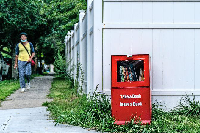 Sitting on the corner of West 256th Street and Mosholu Avenue, Riverdale's newest library doesn't require a card or even a trip inside. Passers-by are invited to take and leave books as they please, and can even keep a book they particularly like.