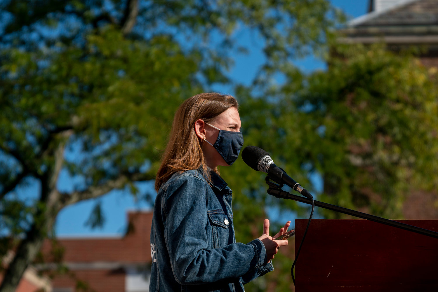 Alexandria Villaseñor, who spoke at Manhattan College's 'shoe strike' Sept. 22, is a co-founder of U.S. Youth Climate Strike and the founder of Earth Uprising — both youth organizations advocating for action on climate change issues.