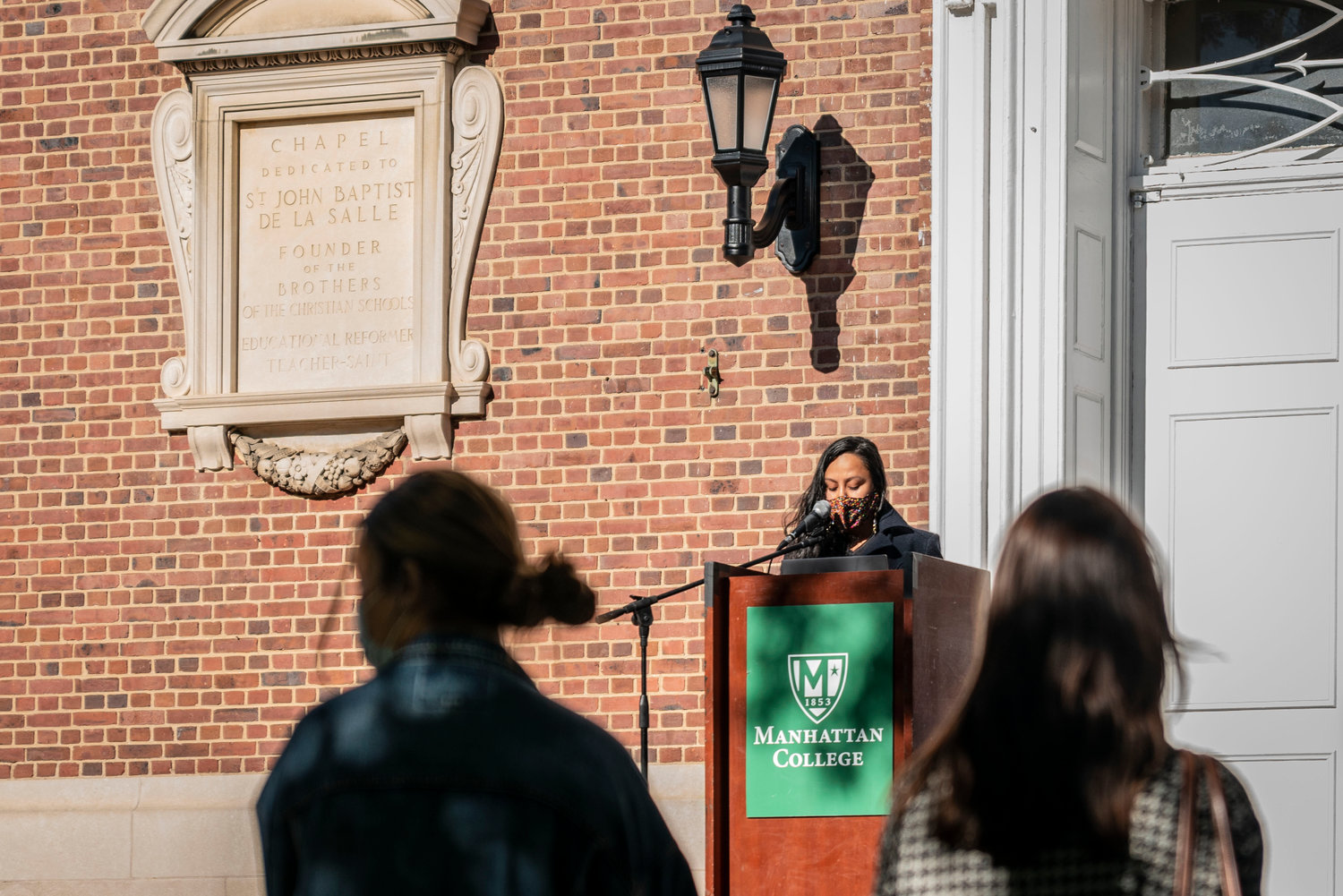 Consuelo Hernandez's climate activism is largely local. She oversees the composting program at the Episcopal Church of the Mediator on West 231st Street, and was one of several speakers at Manhattan College's 'shoe strike' Sept. 22.