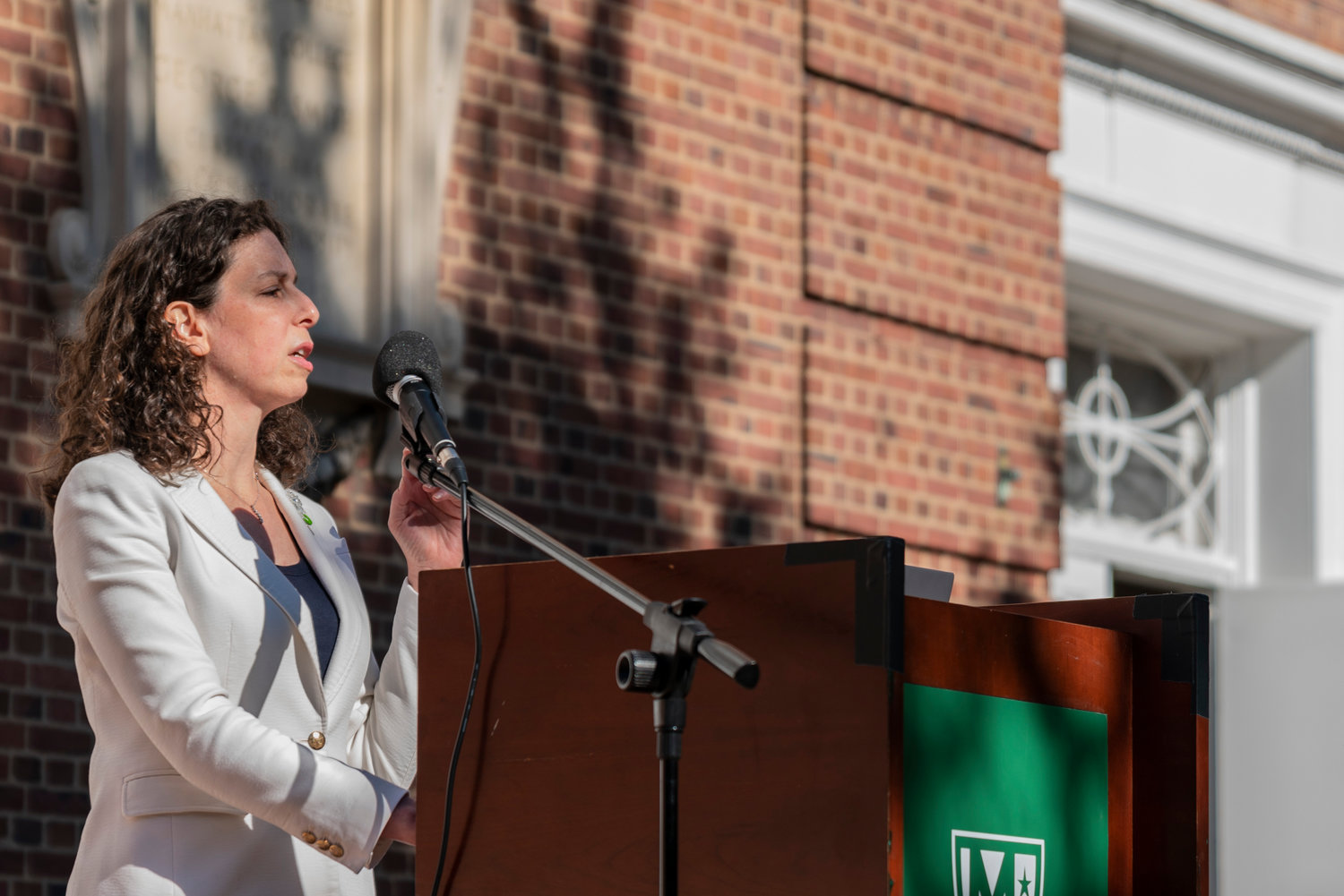 Before she was a city council candidate, Jessica Haller was a climate activist. In fact, she still is. Haller was one of several speakers invited to Manhattan College's 'shoe strike' Sept. 22 to speak about climate change and its impact on the world.