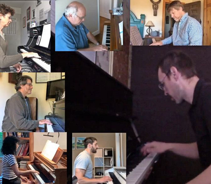 Professional musician Ron Drotos and 50 of his online students from around the world gathered virtually to create a 'World Piano Jam,' a four-minute piece available on Drotos' YouTube channel.
