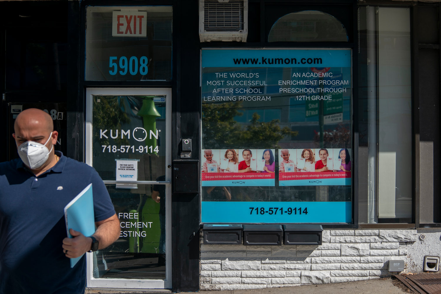 While Mathnasium may have closed, another academic support center on Riverdale Avenue — Kumon — remains open. Kumon moved into smaller digs next door, but it's actually seeing more scheduled sessions as a result of the challenges of hybrid and remote learning.