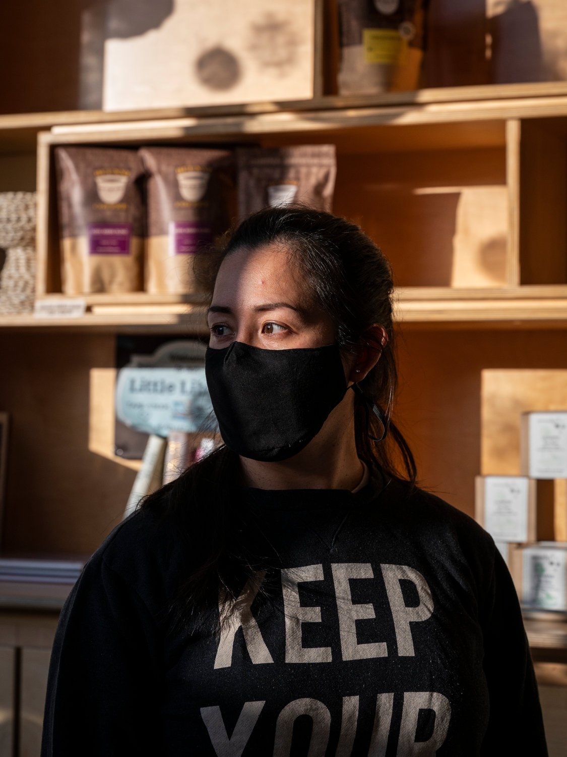 Maribel Acosta was a familiar face for many visiting Buunni Coffee on Riverdale Avenue — even behind the face mask. Even though her store is closing, Buunni co-owner Sarina Prabasi says she'll find room for Acosta and other employees at Buunni's three remaining locations.