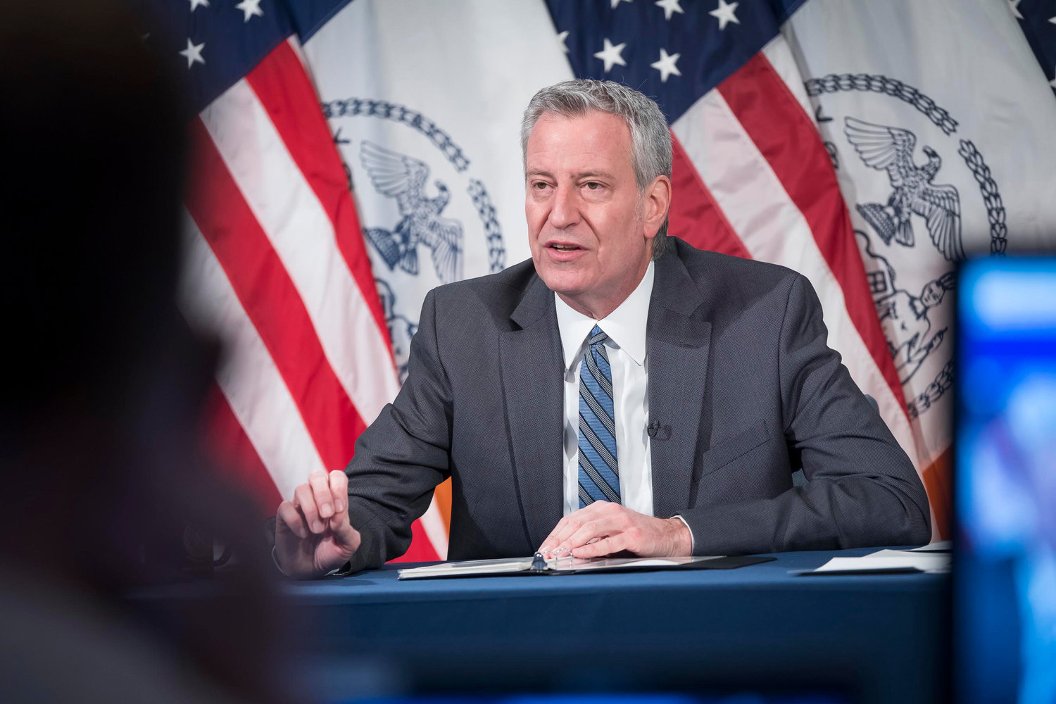 Mayor Bill deBlasio announced high school buildings would reopen March 22. This marks the first time all buildings will be allowed to have in-person classes since a system wide closure in November.