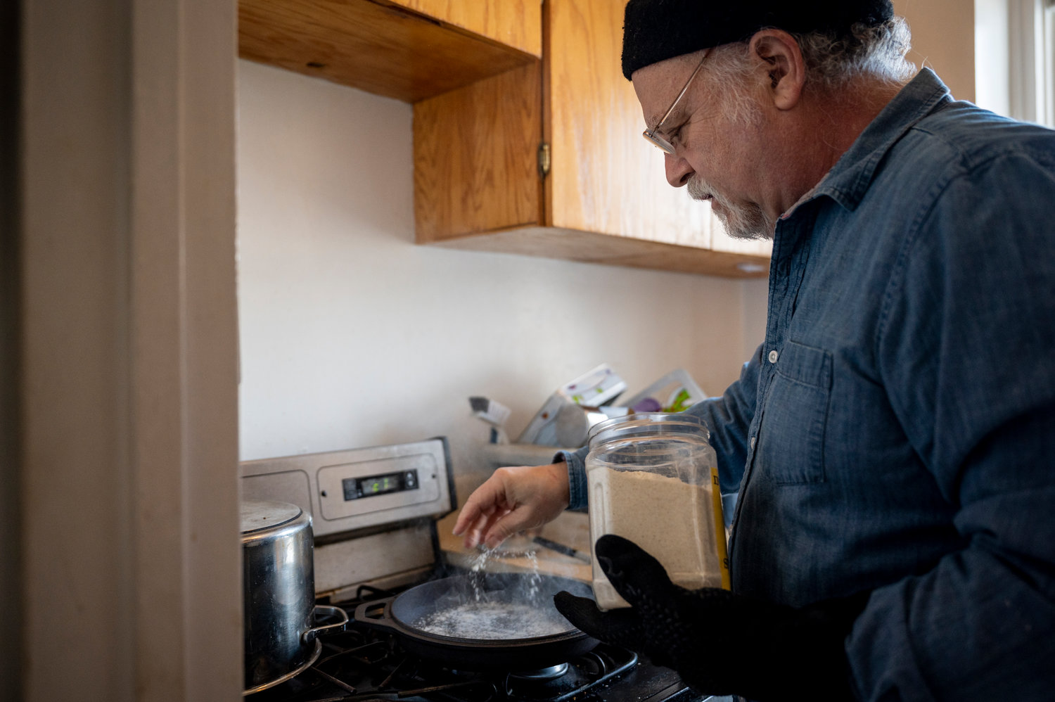 Early in the coronavirus pandemic, Arnie Adler says he discovered he makes a really good loaf of sourdough bread. Now he's bartering his bakery creations with neighbors for other homemade food items.