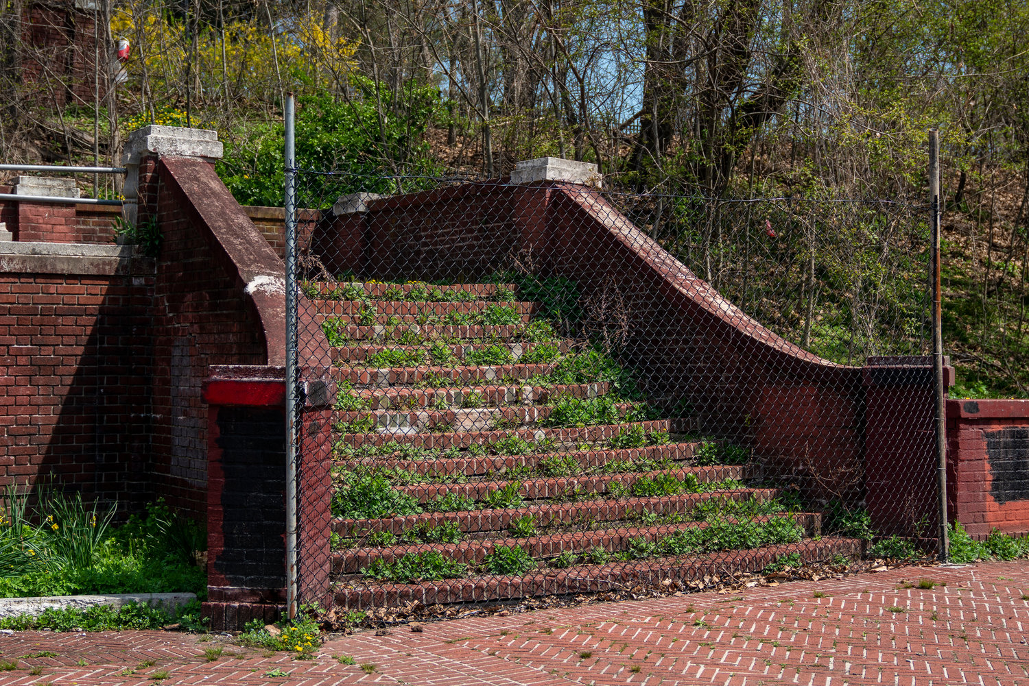 The red steps leading to the Van Cortlandt House were constructed by enslaved people, says Christina Taylor of the Van Cortlandt Park Alliance. Taylor is a part of the Enslaved People Project, which endeavors to draw attention to the contributions enslaved people made on and around the Van Cortlandt homestead.