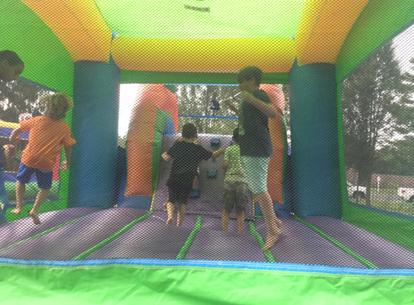 BOUNCING AROUND —Participants in the Artletics program enjoy a Fun Day at the Rome Art and Community Center earlier this week.  (Photo submitted)