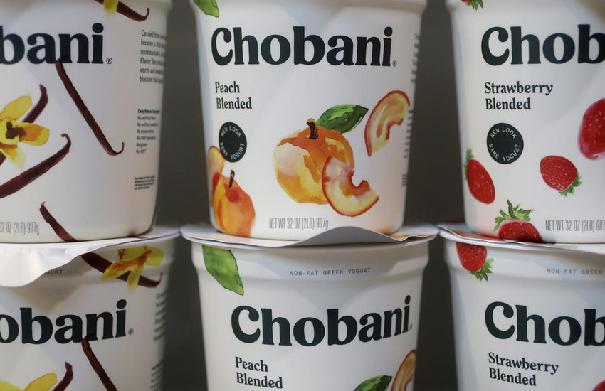 NEW CUPS — Chobani yogurt — minus the words Greek yogurt — are displayed on its new cups. Chobani, the company that kick-start the Greek yogurt craze, may expand beyond that food in an increasingly crowded yogurt market.