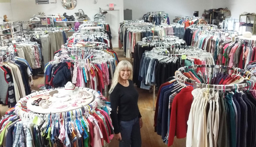 IN HOLLAND PATENT  — The interior of the Country Corner Thrift Shop and manager Denise Routhier.