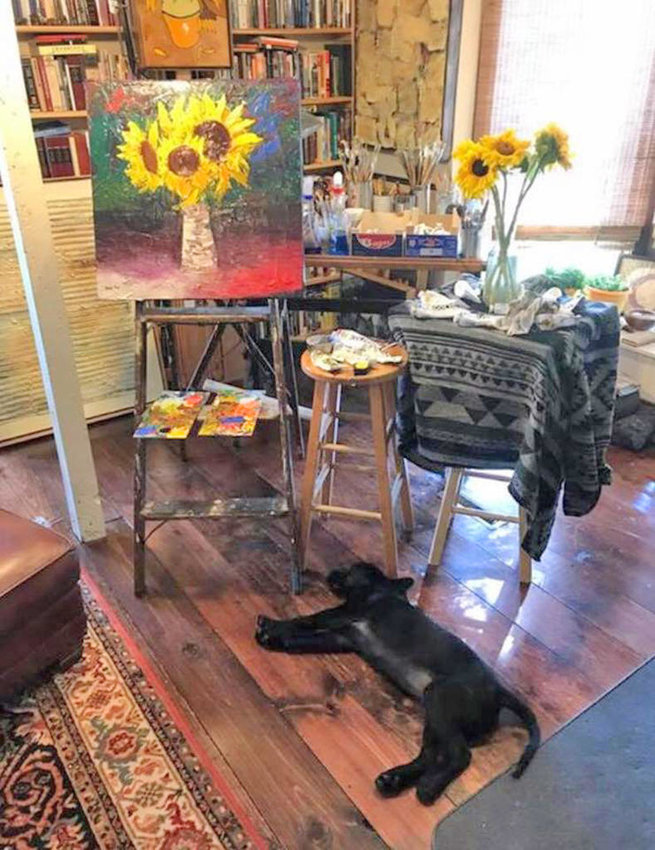 RIGHT AT HOME — An artist's studio along the Cazenovia Art Trail  (Photo submitted)