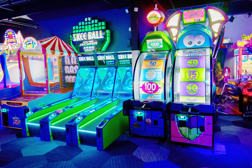GAMES GALORE —A glimse of some of the games offered at PINZ, which will be coming to Sangertown Square in 2019, according to an announcement by the company.