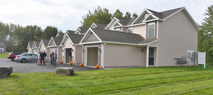 NEW UNITS — Lewiston at Pheasant Run in Clark Mills unveiled new one-floor garden style and two-floor townhouse style units at its complex on Oct. 4.